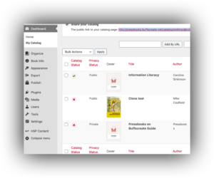 catalog edit panel